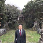 初詣②皇位皇統を護ったとされる和気清麻呂が祀られている護王神社がある大尾山の麓にて(平成29年1月2日 大分)