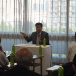 日本の福祉を考える会で講演する衛藤議員(平成28年5月18日 自民党本部)